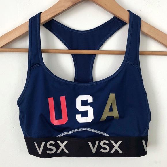 Victoria's Secret Other - Victoria's Secret Blue USA Racerback Sports Bra